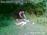 Man Trying To Behead Woman In Woods