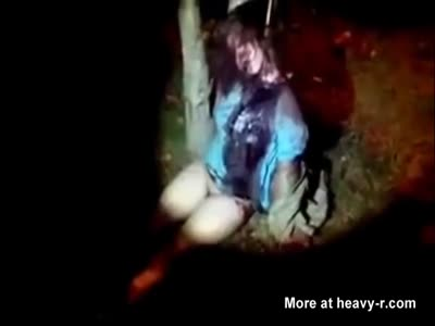 Woman and Raped  Beaten to Death Tied Up to a Tree