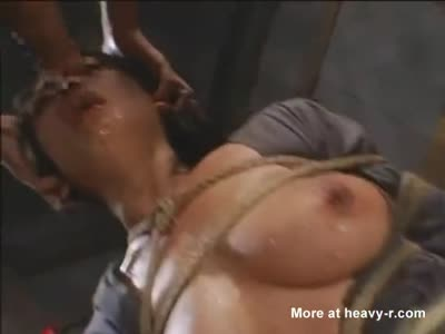 Bondage Slave Puking Face Fucked