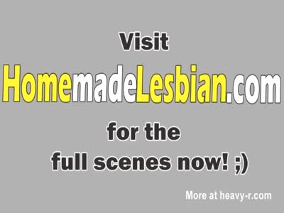 Young lesbians make love in their home
