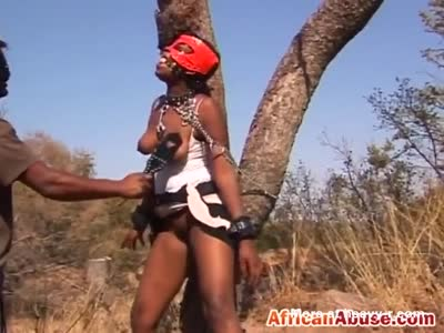 African Sex Slave Spanked And Whipped