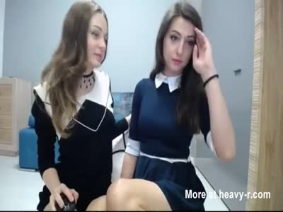 Two Cute Schoolgirls Fucking