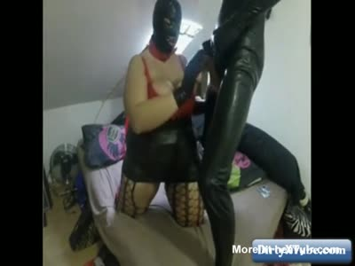 BBW In Latex Jerking And Fucking Cock