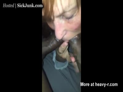 Granny Swallows Two Huge Cocks
