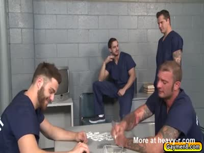 Parker forced to suck prisoners big dick