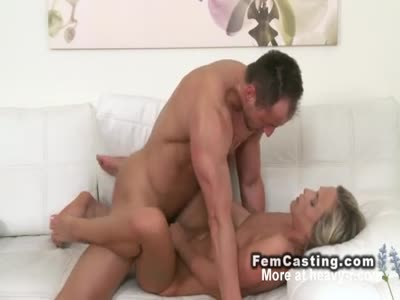 Sexy Blonde Banged Till Cumshot
