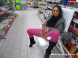 Woman Peeing In Store