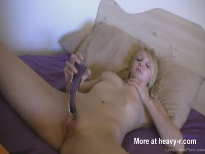 Natural Blonde Teen Toying