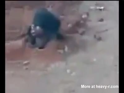 Horrible woman crime and death in video
