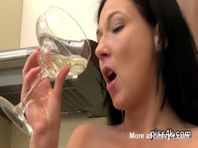 Fervid chick is geeting pissed on and ejaculates wet pussy