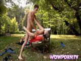 Hot Teen Cock Riding In The Park