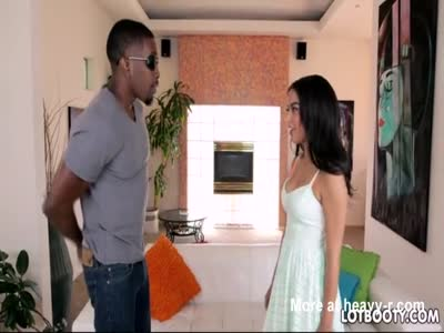 Booty latina Maya Bijou and black big dick for interracial