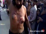 Pakistani Man Cuts His Manboobs With Manchete