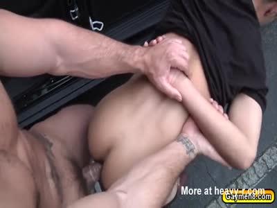 Roadside blowjob and hard anal pounding