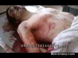Fit & handsome man on morgue table
