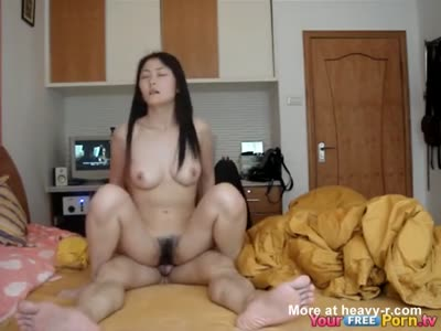 Fucking The Hairy Pussy Of An Asian Student