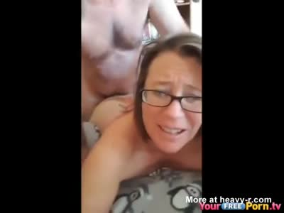 Anal Fucking My Nerdy Wife Ending With A Facial