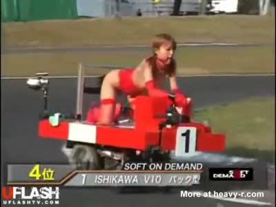 Asian Dildo Cart Race