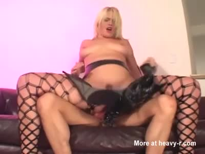Blonde Latex Fishnets Fuck