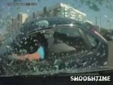 Brutal crash caught on dashcam
