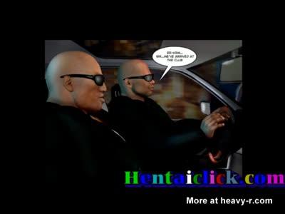 Gorgeous hentai gay hunks group hardcore fun