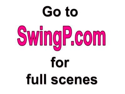 Swinger couples make love in bathtub