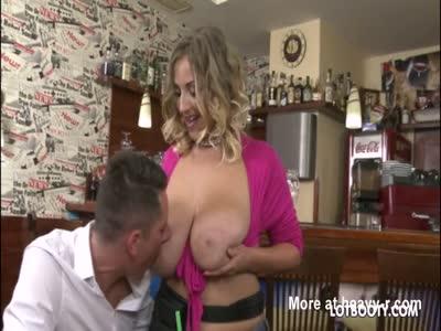 Chubby Waitress Fucking Customer
