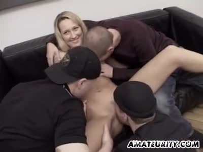 Foursome For Awesome Blonde