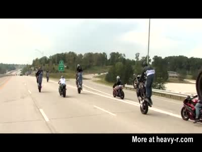 Motorcycle Stunt Accident