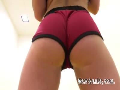 Girlfriend anal banged pov after training