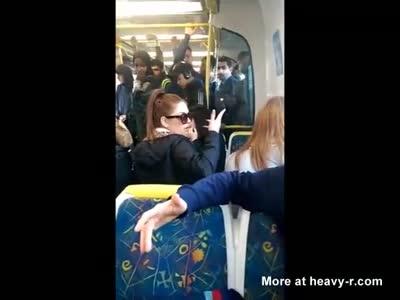 Bitch Playing Loud Music On Train