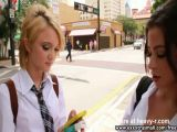 Latina Teen Picks Up Girl For Threesome