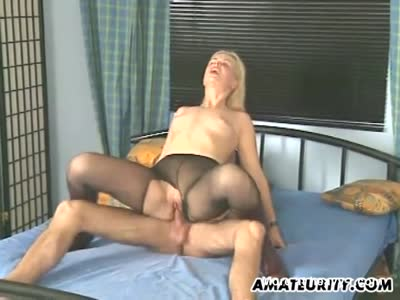 Hot Blonde Rides Cock