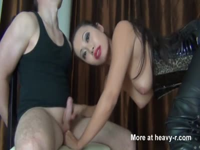 Asian Slut Plays With A Dick