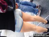 Girl In Short Shorts