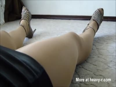 Adria's Dying Legs in Pantyhose