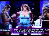 Baby doll testing on TV