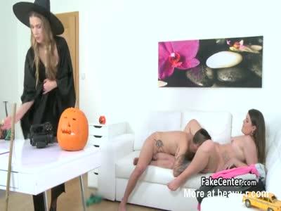 Sexy Agent Masturbats During Casting