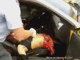 Mustang crash aftermath