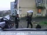 Wild Boar Attacking People In Russia