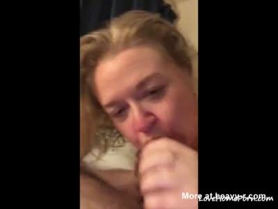 Deepthroats my huge dick