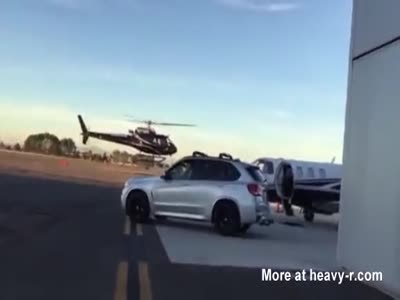 Helicopter Crash On California Airport