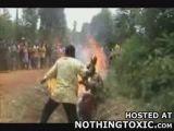 People burned  alive