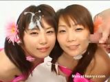 Twin Sisters Bukkake