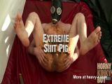 Masked Dude Scat Smeared Wank