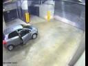 Idiot in parking garage