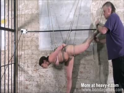 Naked Slave Roped And Suspended