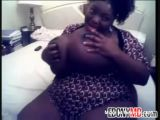 Black BBW Showing Massive Boobs