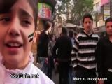 Bomb Falls Near Singing Child In Syria
