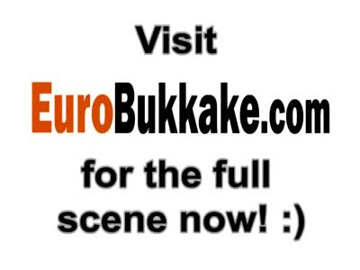 Gang bang Euro bukkake blonde slut piss in mouth